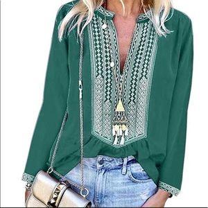 LAST ONE Lovely, long sleeved blouse, boho blouse
